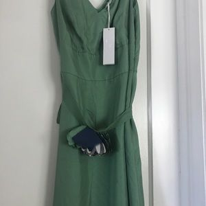 Green summer BR Monogram sleeveless dress